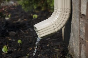 prepare your home by checking downspout