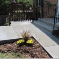 repaired concrete front steps